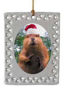 Beaver  Christmas Ornament