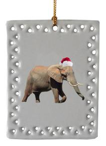 Elephant  Christmas Ornament