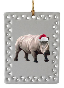 Rhino  Christmas Ornament