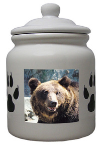 Bear Ceramic Color Cookie Jar