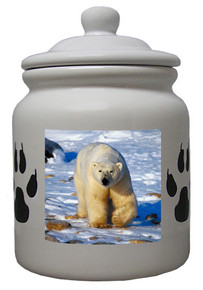 Polar Bear Ceramic Color Cookie Jar
