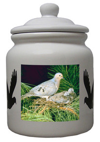 Dove Ceramic Color Cookie Jar