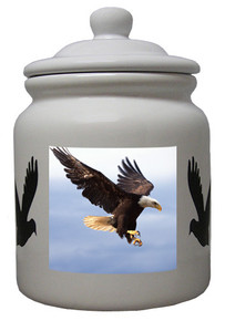 Eagle Ceramic Color Cookie Jar