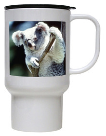 Koala Bear Polymer Plastic Travel Mug