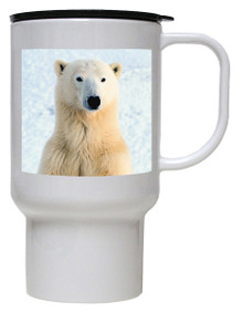 Polar Bear Polymer Plastic Travel Mug