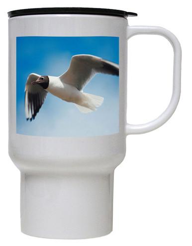 Black Headed Gull Polymer Plastic Travel Mug