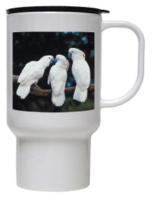 Cockatoo Polymer Plastic Travel Mug