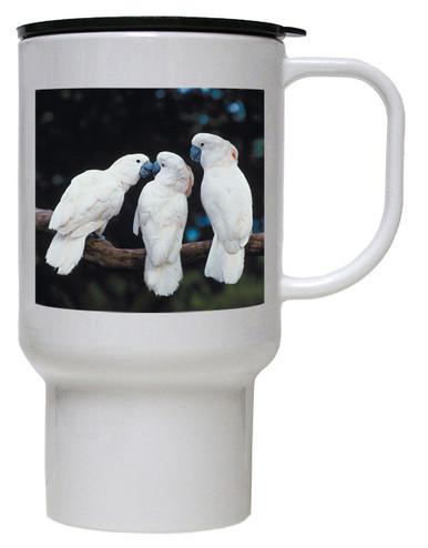 Cockatoo Polymer Plastic Travel Mug