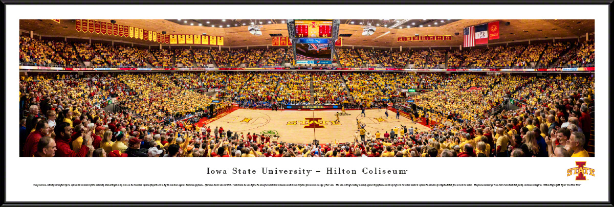 Iowa State Cyclones At The Hilton Coliseum Panorama Poster The