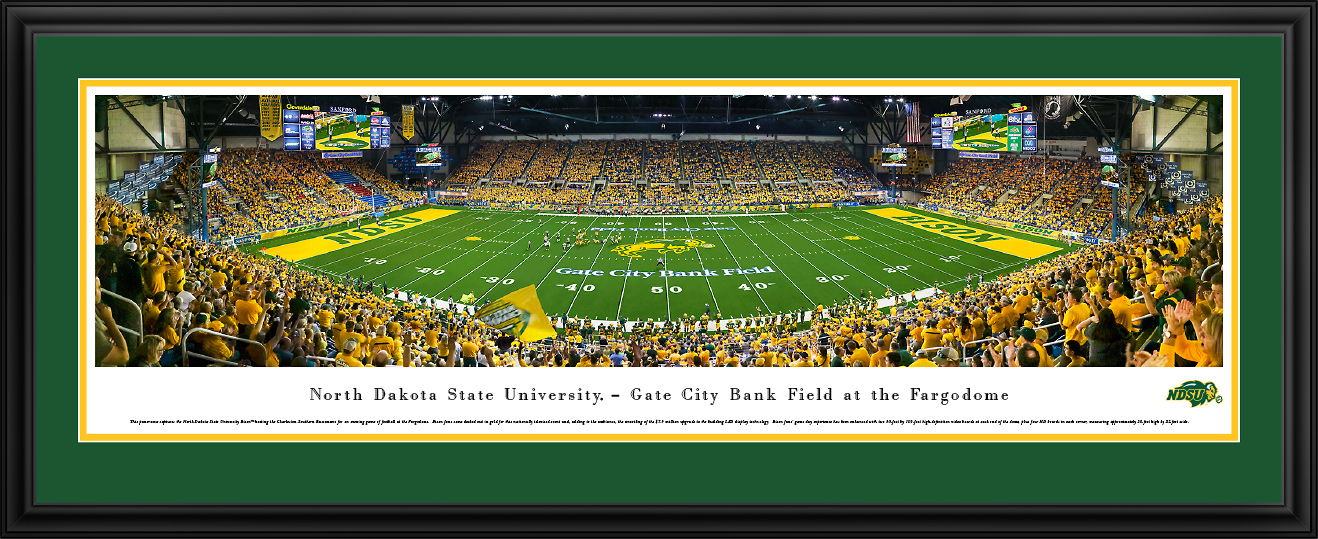 new style 51a99 62e67 North Dakota State Bison at the Fargodome Panorama Poster - the ...