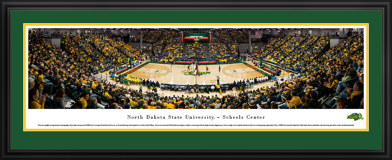 sports shoes 0eebe 2724f North Dakota State Bison at NDSU Scheels Arena Panoramic Poster ...