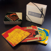 San Francisco Sports Teams Wooden Coaster Set
