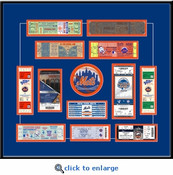 New York Mets Tickets to History - Replica Ticket Frame