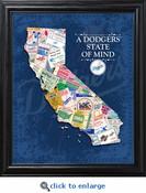 Los Angeles Dodgers State of Mind Framed Print