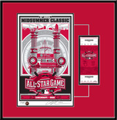 2015 MLB All-Star Game Sports Propaganda Serigraph Ticket Frame