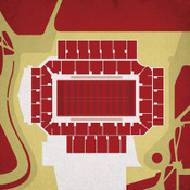 Boston College Eagles - Alumni Stadium City Print