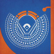 Shea Stadium - New York Mets City Print