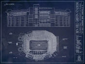 Florida Gators - Ben Hill Griffin Stadium Blueprint Poster