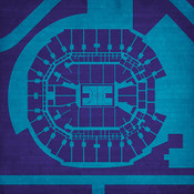 Charlotte Hornets - Time Warner Cable Arena City Print