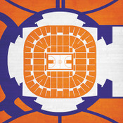 Clemson Tigers - Littlejohn Coliseum City Print
