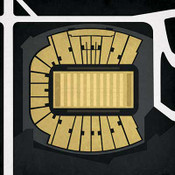 Vanderbilt Commodores - Vanderbilt Stadium City Print