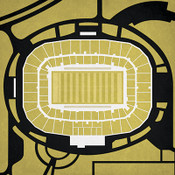 UCF Knights - Bright House Networks Stadium City Print