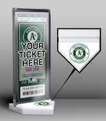 Oakland Athletics My First Game Ticket Display Stand