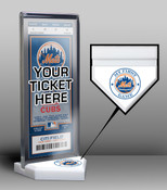 New York Mets My First Game Ticket Display Stand