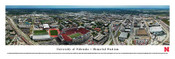 Nebraska Cornhuskers at Memorial Stadium Aerial Panorama Poster