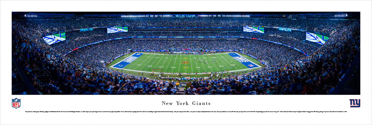 14e232f13e3 New York Giants at MetLife Stadium Panorama Poster - the Stadium Shoppe