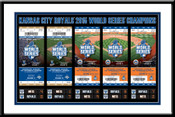 2015 World Series Tickets to History Framed Print