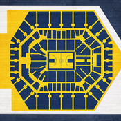 Indiana Pacers - Bankers Life Fieldhouse City Print