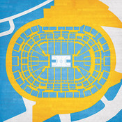 Denver Nuggets - Pepsi Center City Print