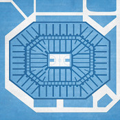 North Carolina Tarheels - Dean Smith Center City Print