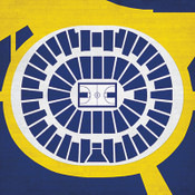 Michigan Wolverines - Crisler Arena City Print