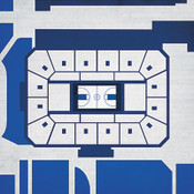Duke Blue Devils - Cameron Indoor Stadium City Print