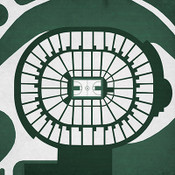 Michigan State Spartans - Breslin Events Center City Print