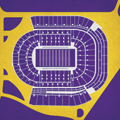 LSU Tigers - Tiger Stadium City Print