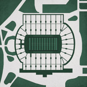Michigan State Spartans - Spartan Stadium City Print