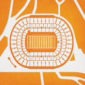 Tennessee Volunteers - Neyland Stadium City Print
