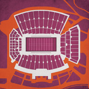 Virginia Tech Hokies - Lane Stadium City Print
