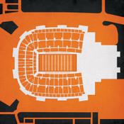 Oklahoma State Cowboys - Boone Pickens Stadium City Print