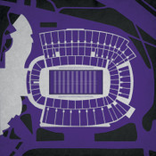 TCU Horned Frogs - Amon Carter Stadium City Print