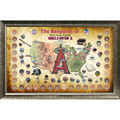 Los Angeles Angels Ballpark Map Framed Collage w/Game Used Dirt