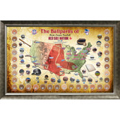 Boston Red Sox Ballpark Map Framed Collage w/Game Used Dirt