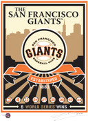 San Francisco Giants Team Logo Handmade LE Screen Print