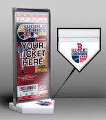 2007 World Series Champions Ticket Display Stand - Boston Red So