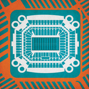 Hard Rock Stadium - Miami Dolphins City Print