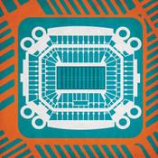 Hard Rock Stadium - Miami Dolphins City Print