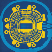 Qualcomm Stadium - San Diego Chargers City Card